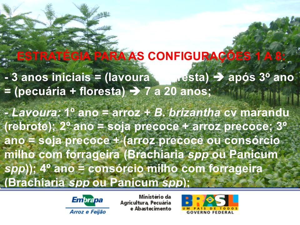 ESTRATÉGIA PARA AS CONFIGURAÇÕES 1 A 8: