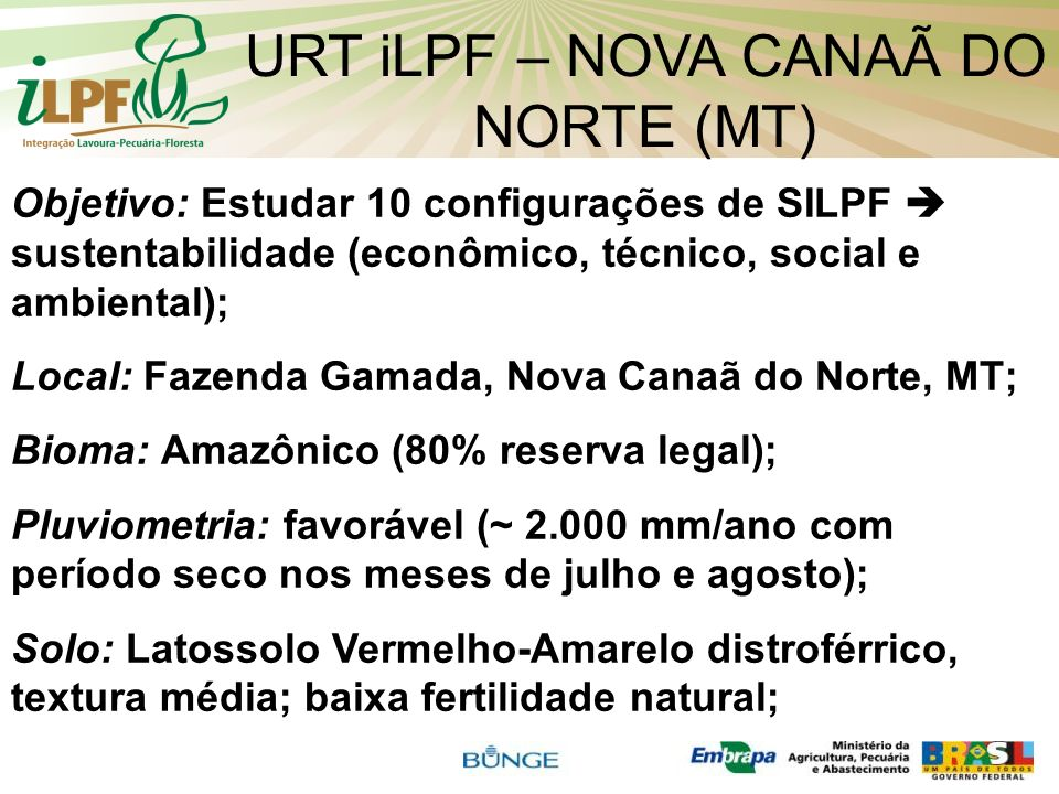 URT iLPF – NOVA CANAÃ DO NORTE (MT)