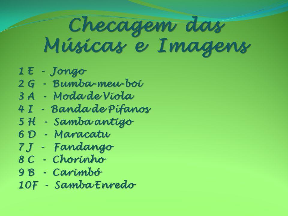 Checagem das Músicas e Imagens