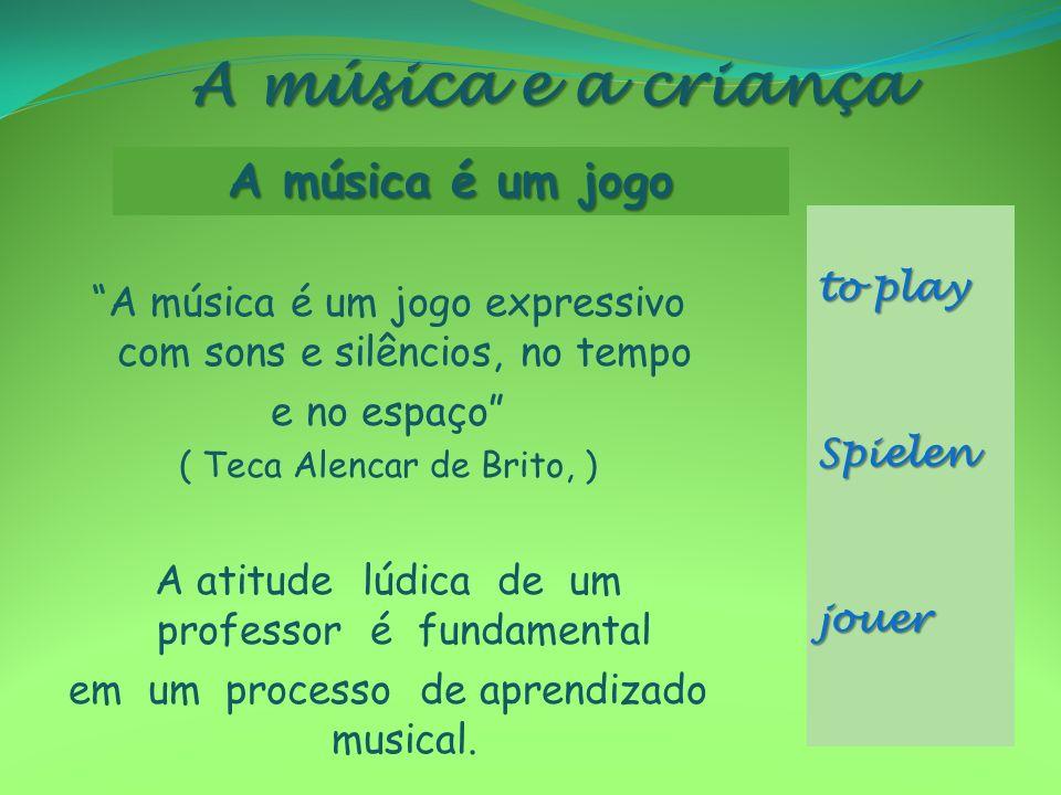 A música e a criança A música é um jogo