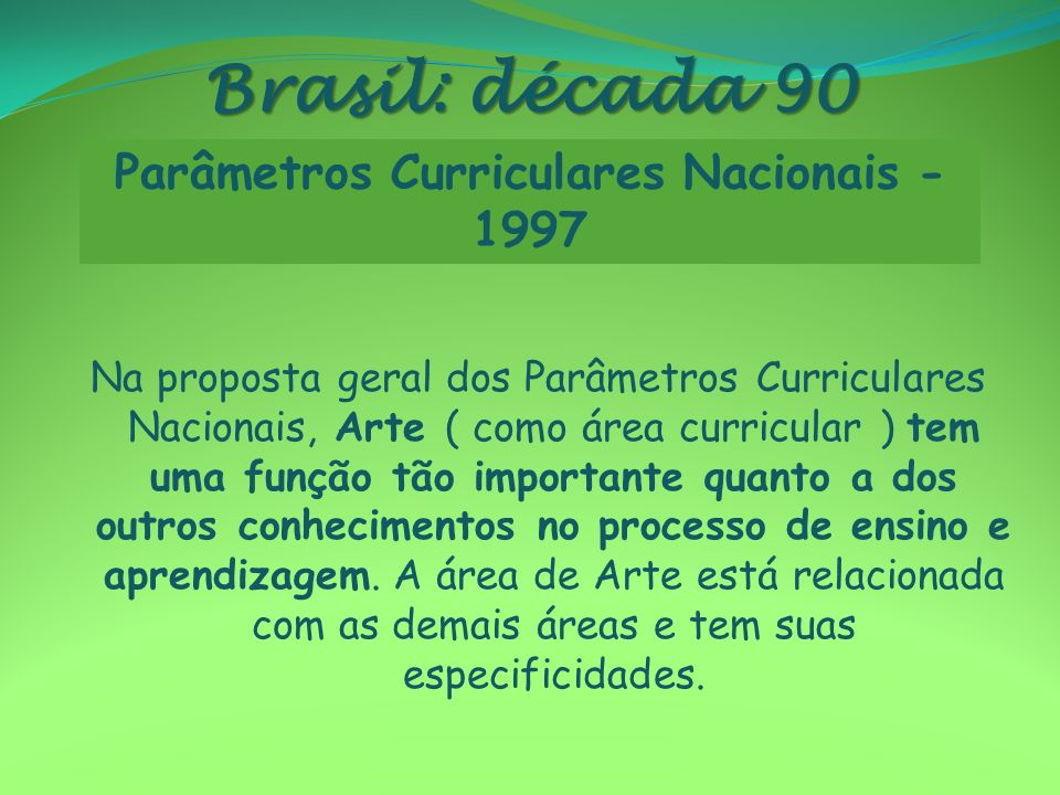Parâmetros Curriculares Nacionais - 1997