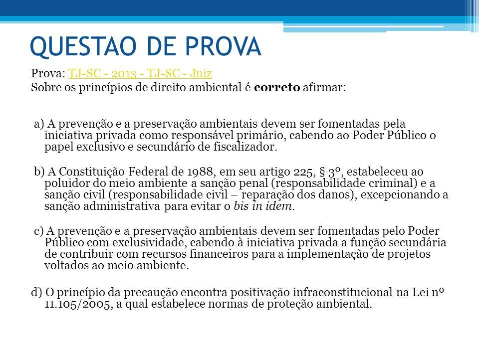 QUESTAO DE PROVA Prova: TJ-SC - 2013 - TJ-SC - Juiz