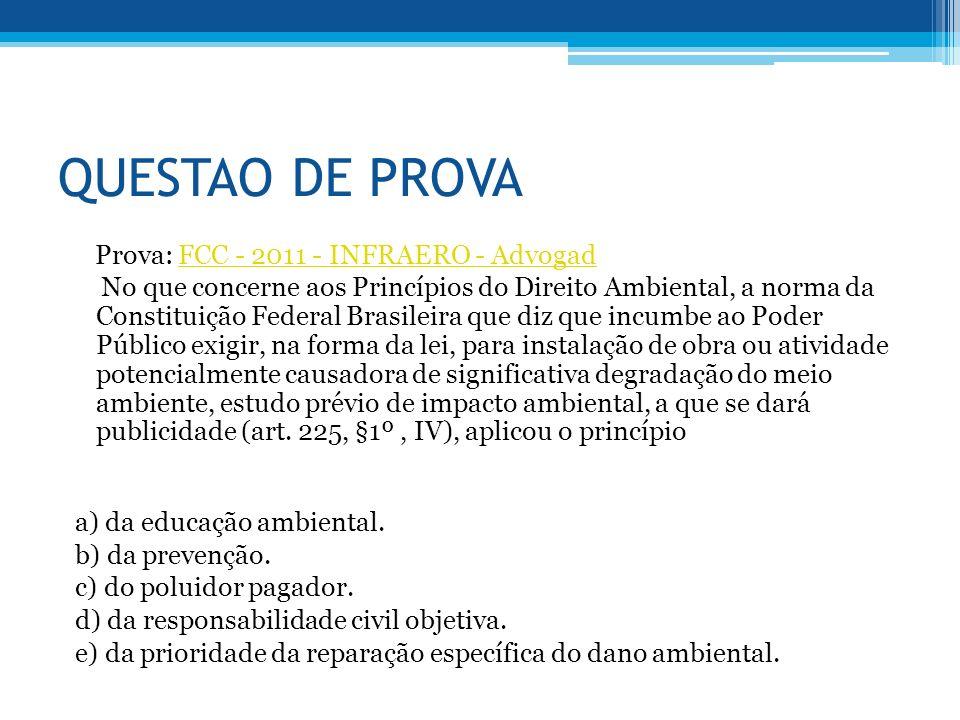 QUESTAO DE PROVA Prova: FCC - 2011 - INFRAERO - Advogad