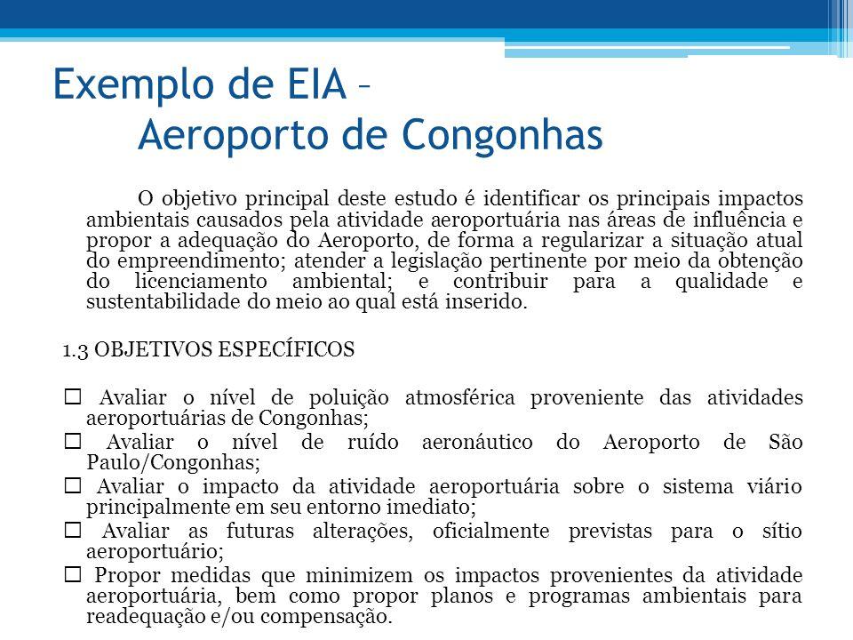 Exemplo de EIA – Aeroporto de Congonhas
