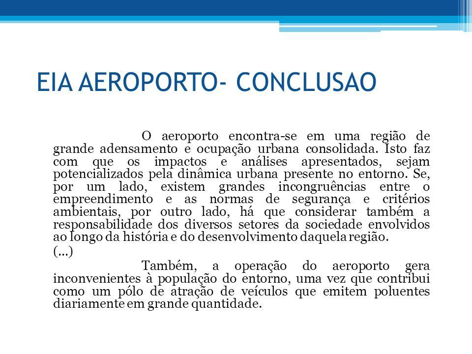 EIA AEROPORTO- CONCLUSAO