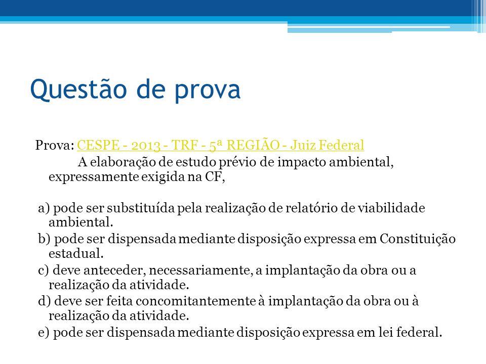 Questão de prova Prova: CESPE - 2013 - TRF - 5ª REGIÃO - Juiz Federal