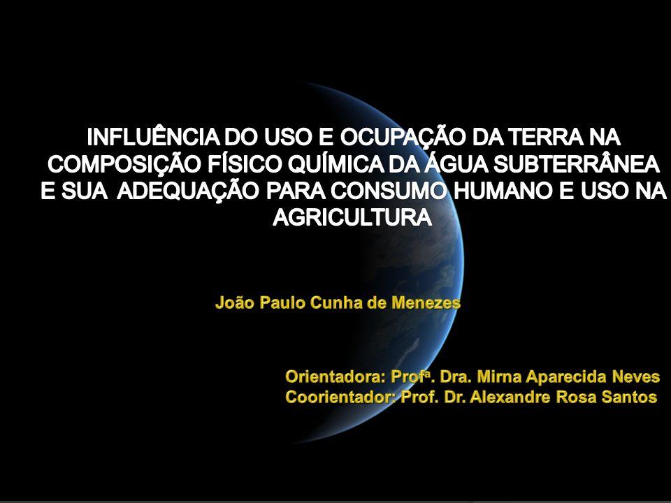 INFLUÊNCIA DO USO E OCUPAÇÃO DA TERRA NA COMPOSIÇÃO FÍSICO QUÍMICA DA ÁGUA SUBTERRÂNEA E SUA ADEQUAÇÃO PARA CONSUMO HUMANO E USO NA AGRICULTURA
