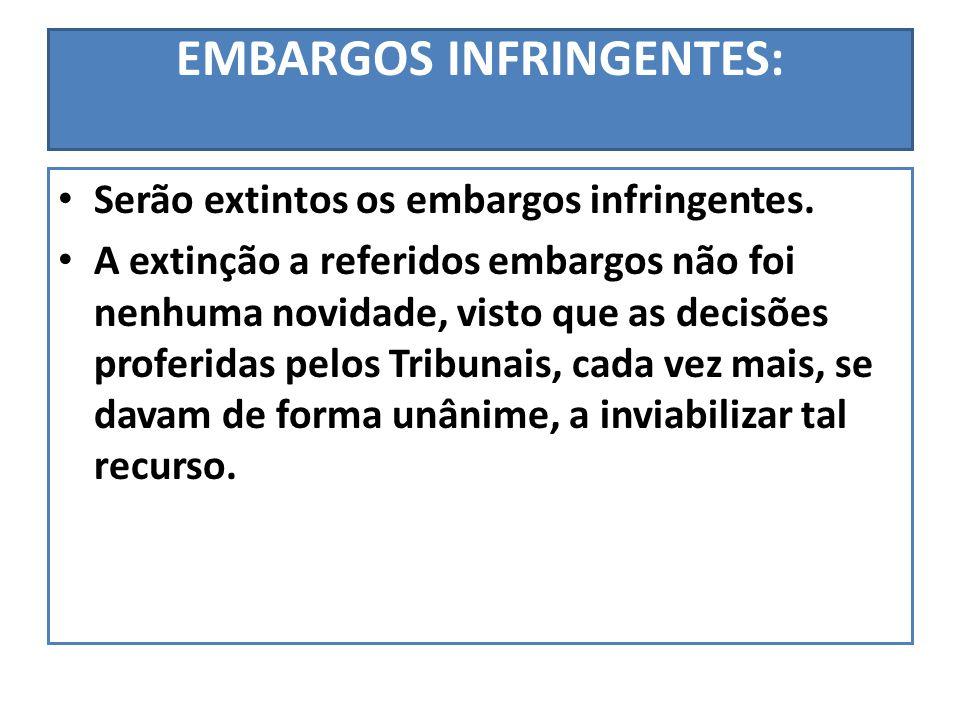 EMBARGOS INFRINGENTES: