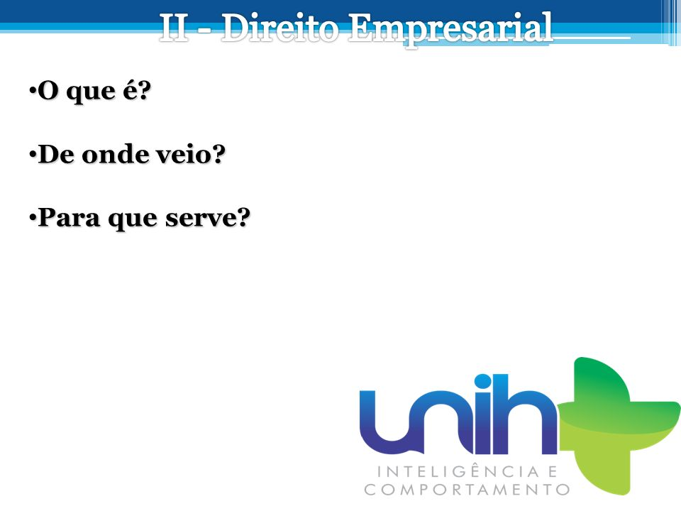 II - Direito Empresarial