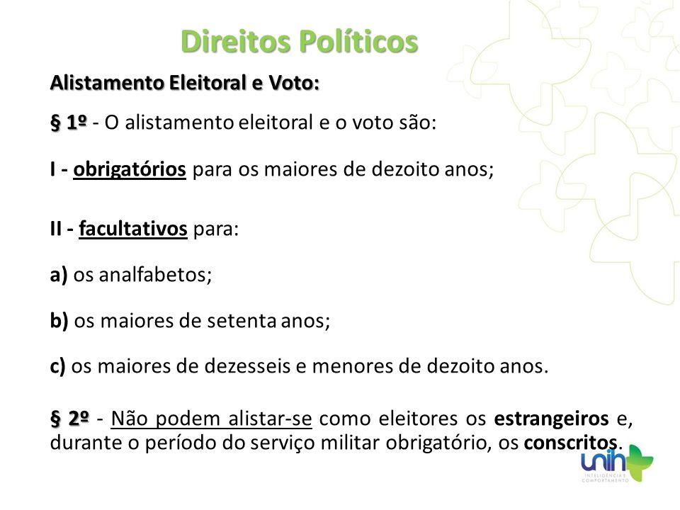 Direitos Políticos Alistamento Eleitoral e Voto: