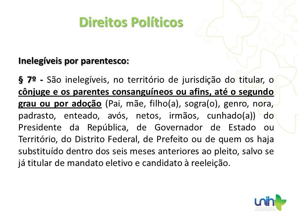 Direitos Políticos Inelegíveis por parentesco: