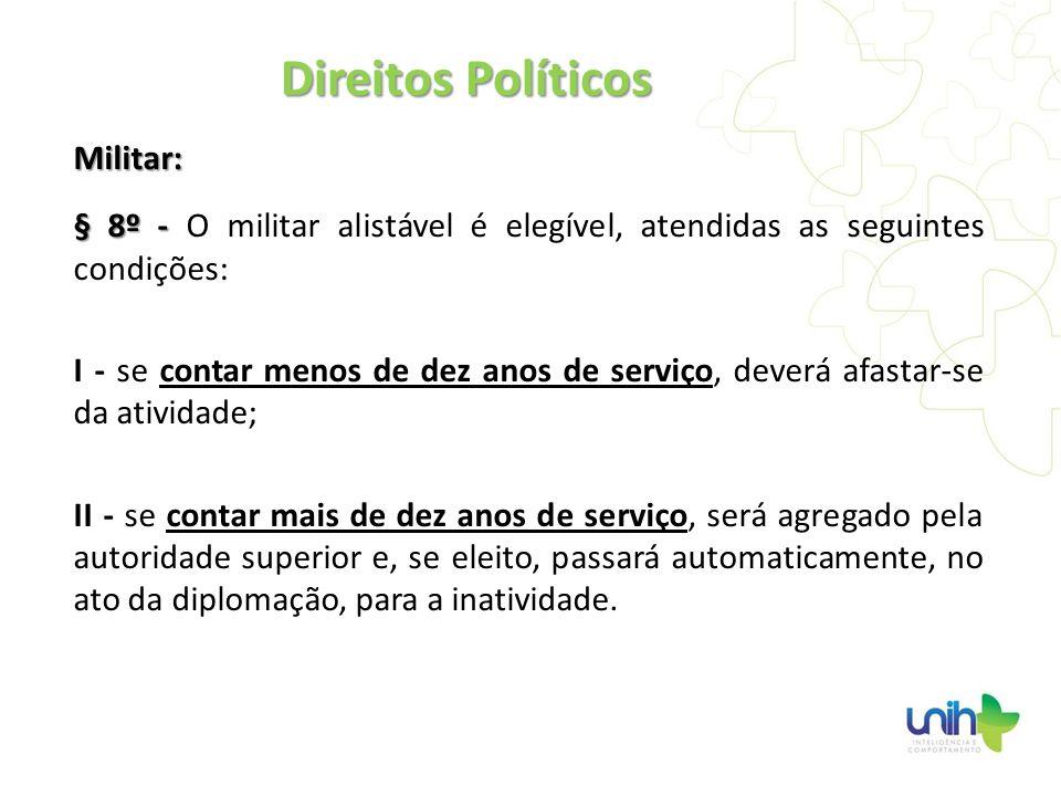 Direitos Políticos Militar: