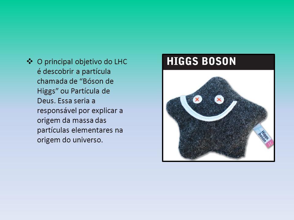 O principal objetivo do LHC é descobrir a partícula chamada de Bóson de Higgs ou Partícula de Deus.