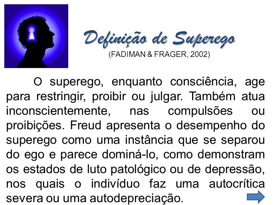 Definição de Superego (FADIMAN & FRAGER, 2002)