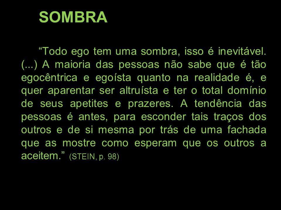 SOMBRA Todo ego tem uma sombra, isso é inevitável. (