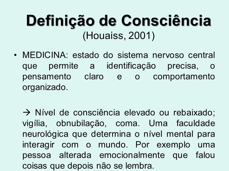 Definição de Consciência (Houaiss, 2001)