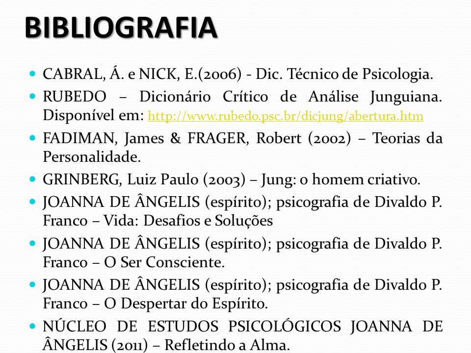 BIBLIOGRAFIA CABRAL, Á. e NICK, E.(2006) - Dic. Técnico de Psicologia.