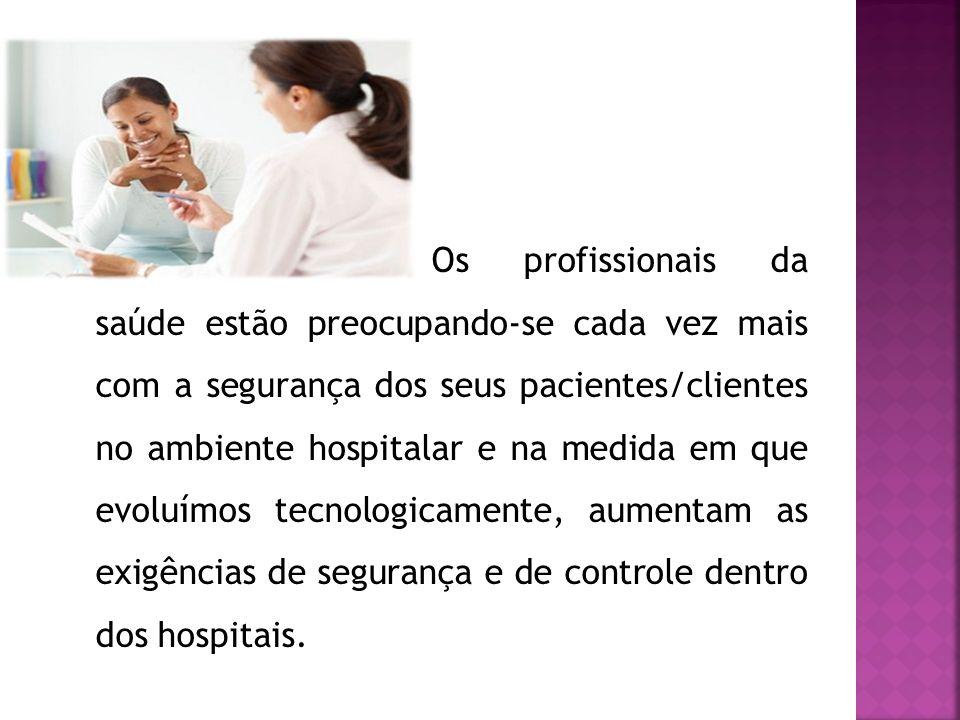 Os profissionais da saúde estão preocupando-se cada vez mais com a segurança dos seus pacientes/clientes no ambiente hospitalar e na medida em que evoluímos tecnologicamente, aumentam as exigências de segurança e de controle dentro dos hospitais.