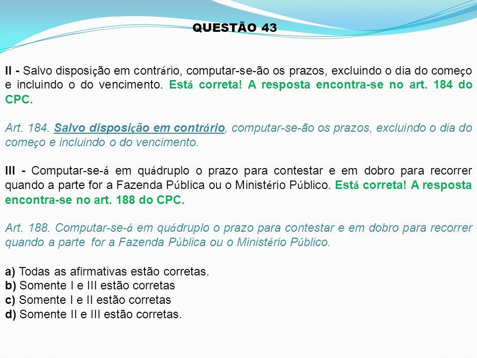 QUESTÃO 43