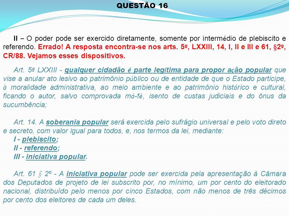 QUESTÃO 16