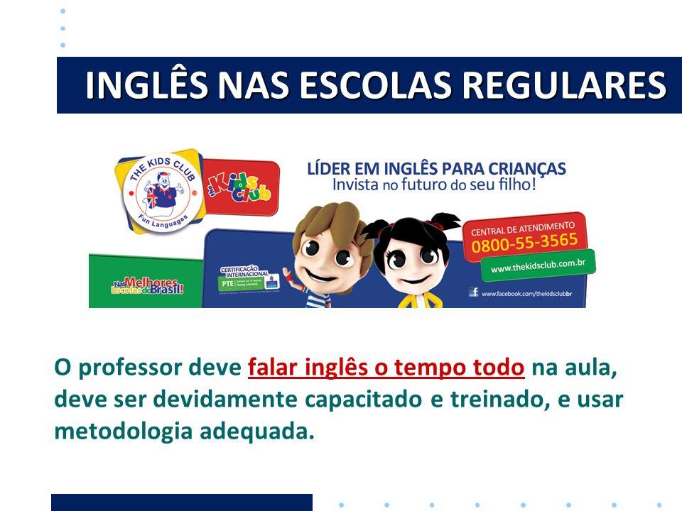 INGLÊS NAS ESCOLAS REGULARES