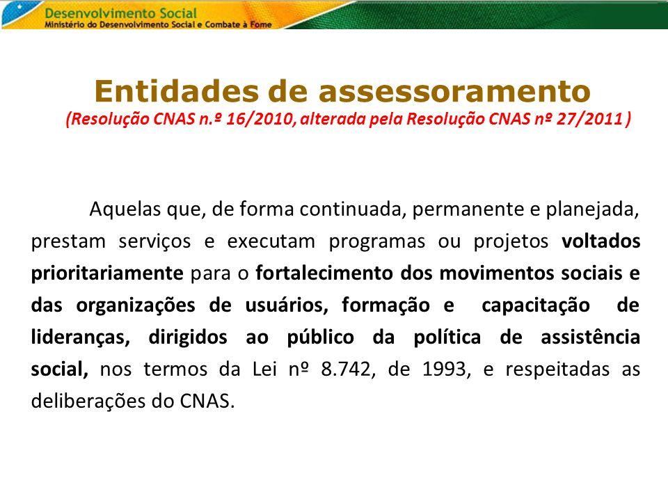 Entidades de assessoramento