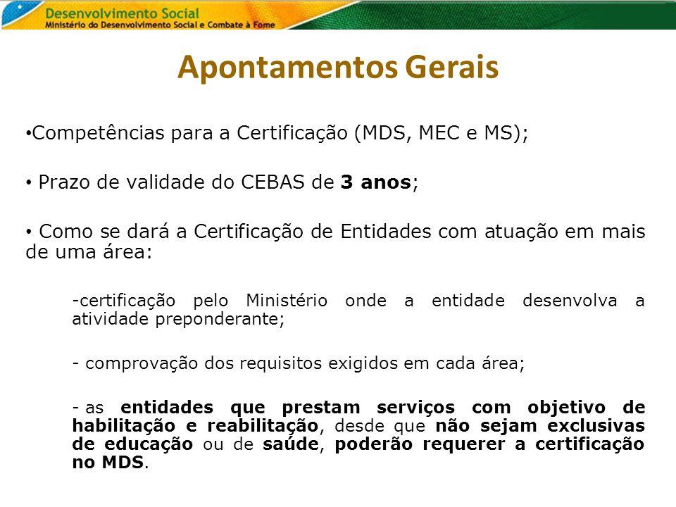 Apontamentos Gerais Competências para a Certificação (MDS, MEC e MS);