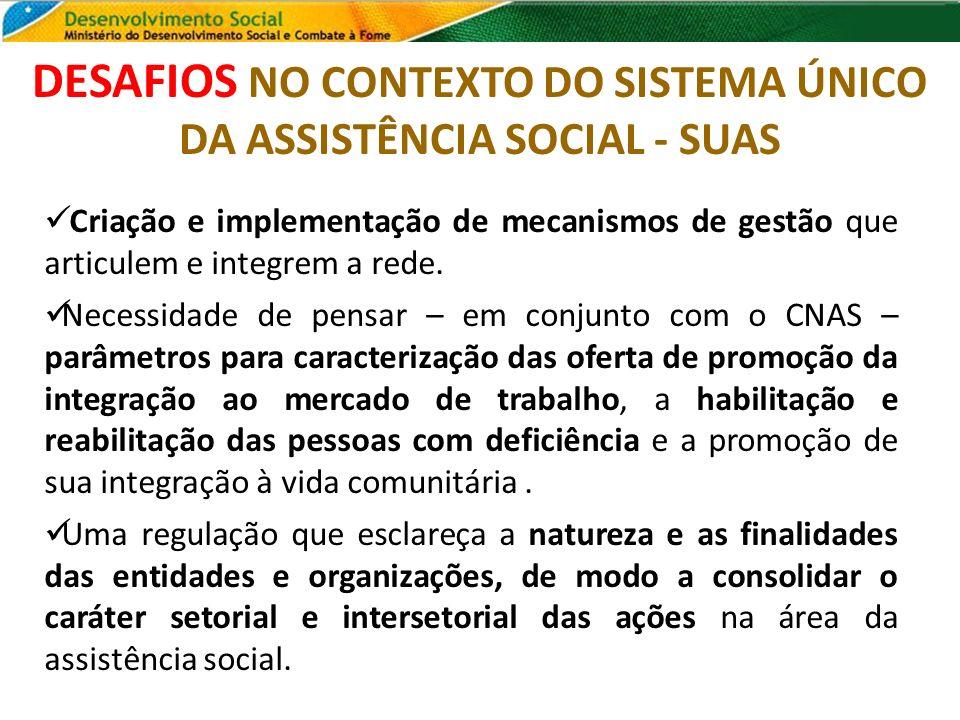 DESAFIOS NO CONTEXTO DO SISTEMA ÚNICO DA ASSISTÊNCIA SOCIAL - SUAS