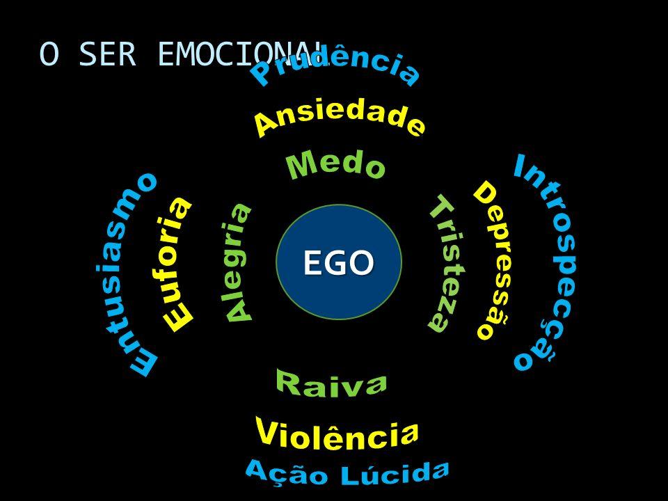 O SER EMOCIONAL EGO Ansiedade Medo Raiva Prudência Depressão Tristeza