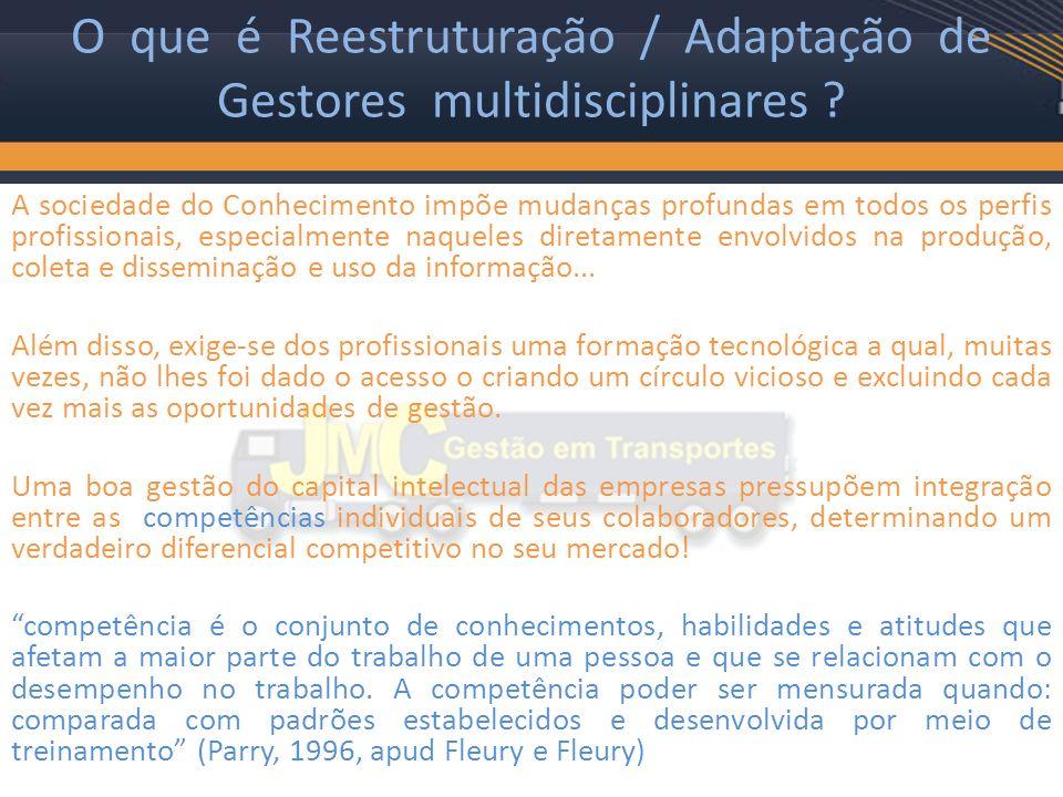 O que é Reestruturação / Adaptação de Gestores multidisciplinares