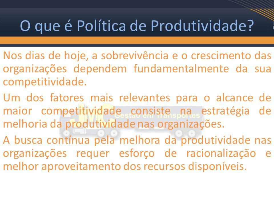O que é Política de Produtividade