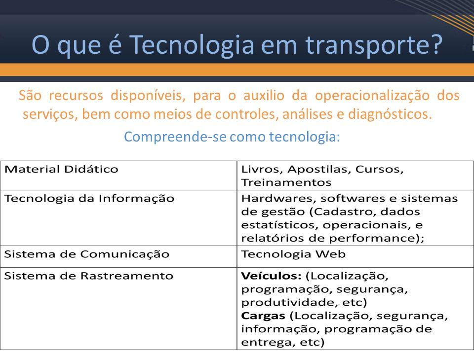 O que é Tecnologia em transporte