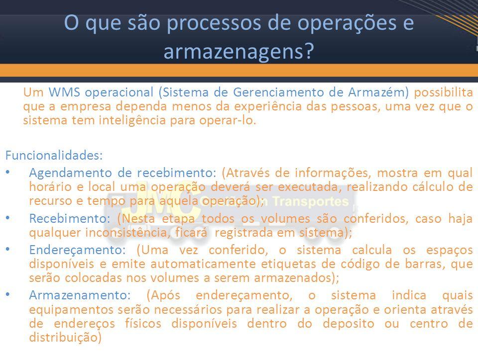 O que são processos de operações e armazenagens