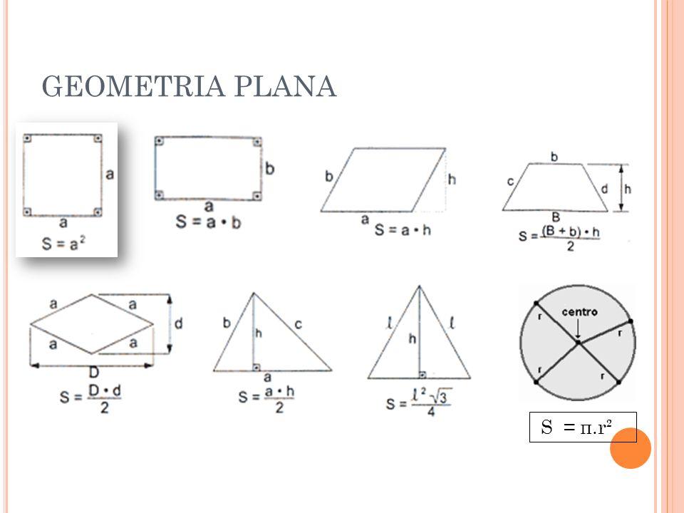 GEOMETRIA PLANA S = π.r²