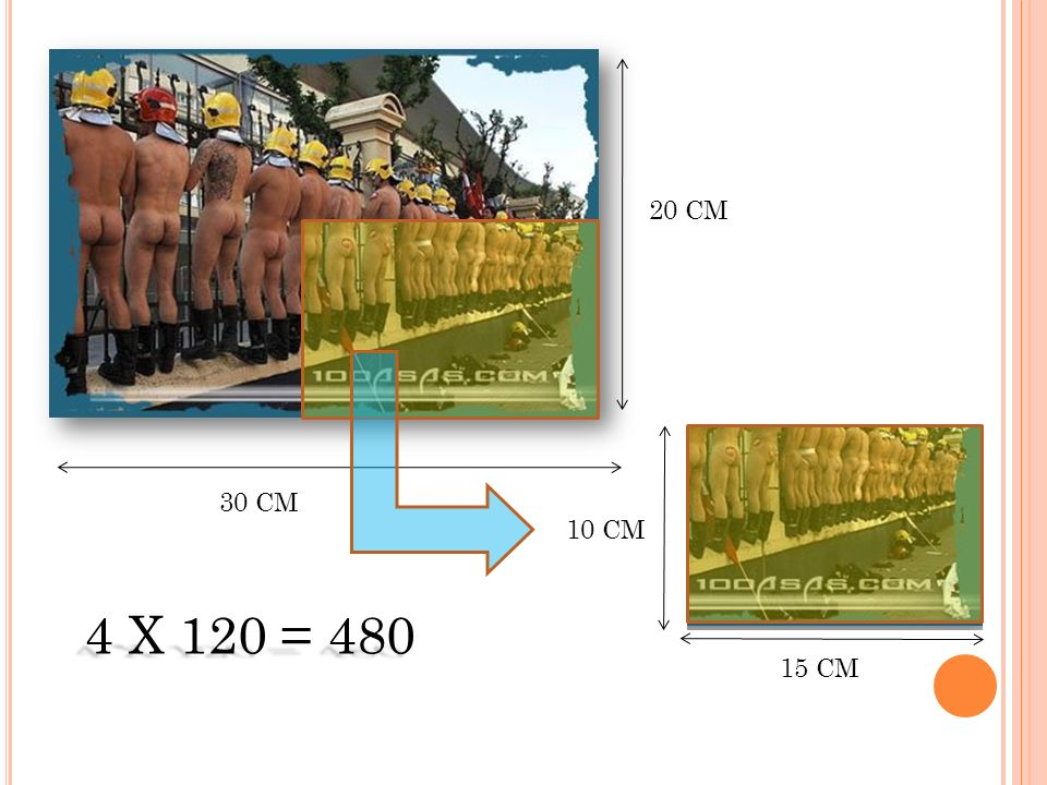 20 CM 30 CM 10 CM 4 X 120 = 480 15 CM