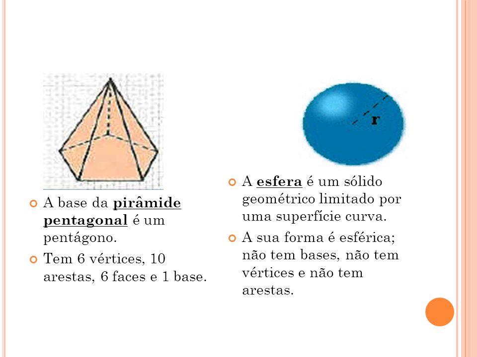 A base da pirâmide pentagonal é um pentágono.