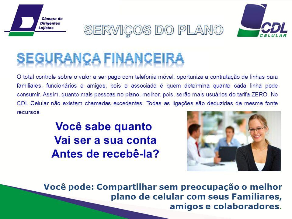 SERVIÇOS DO PLANO Segurança financeira Você sabe quanto