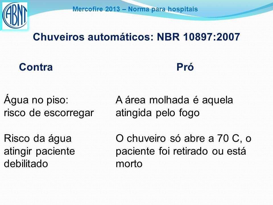 Chuveiros automáticos: NBR 10897:2007
