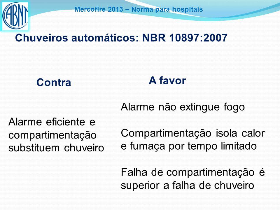 Mercofire 2013 – Norma para hospitais