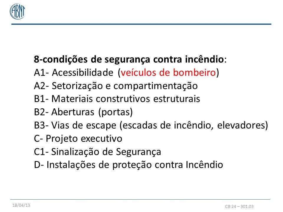 8-condições de segurança contra incêndio: