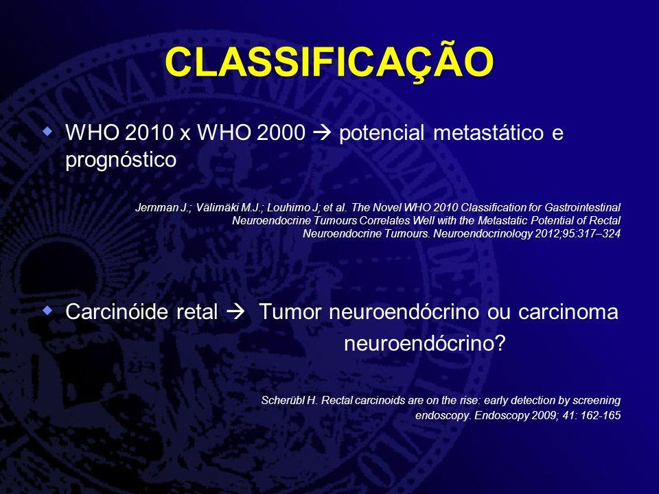 CLASSIFICAÇÃO WHO 2010 x WHO 2000  potencial metastático e prognóstico.