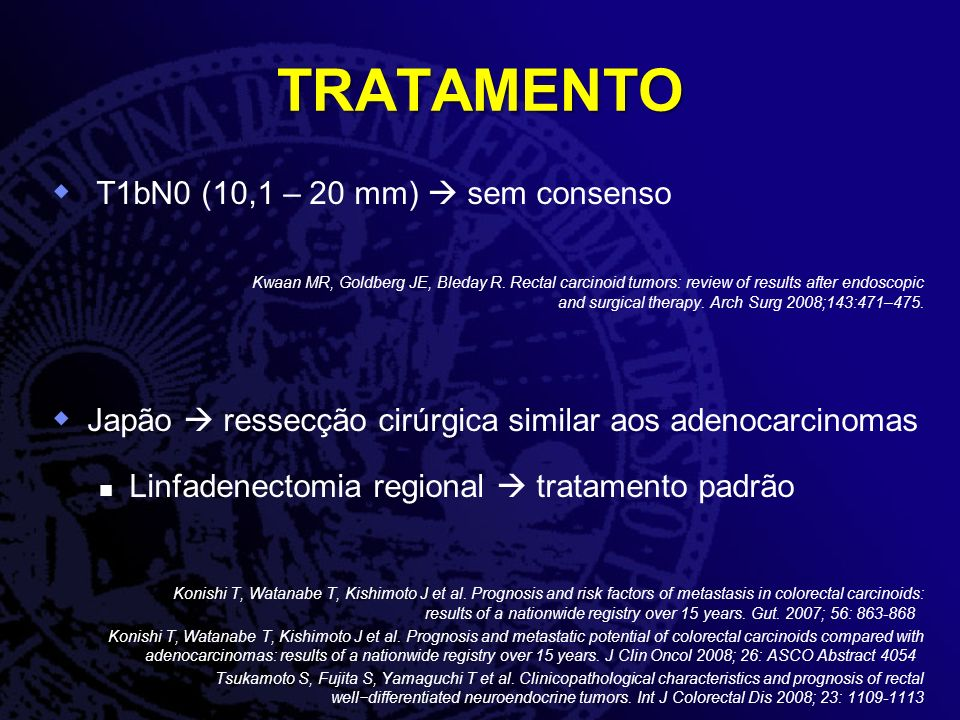 TRATAMENTO T1bN0 (10,1 – 20 mm)  sem consenso