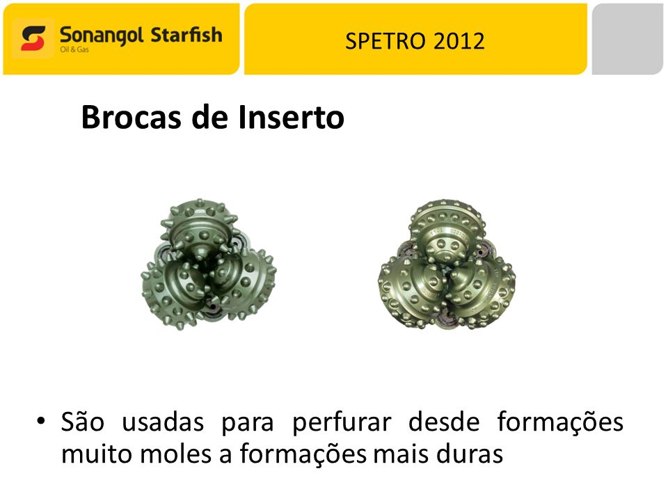 SPETRO 2012 Brocas de Inserto.