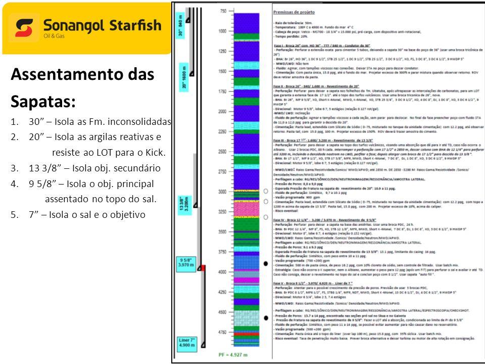SPETRO 2012 Assentamento das Sapatas: