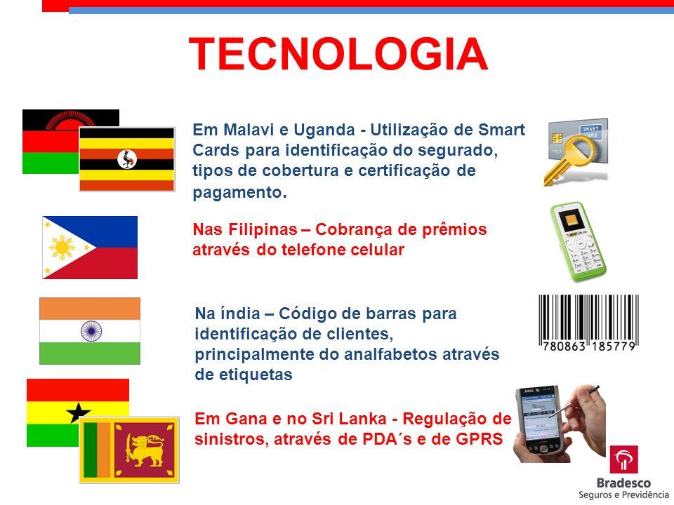 TECNOLOGIA Em Malavi e Uganda - Utilização de Smart Cards para identificação do segurado, tipos de cobertura e certificação de pagamento.