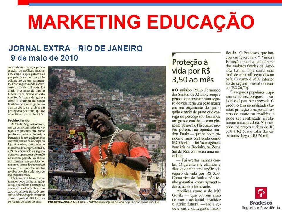 MARKETING EDUCAÇÃO JORNAL EXTRA – RIO DE JANEIRO 9 de maio de 2010
