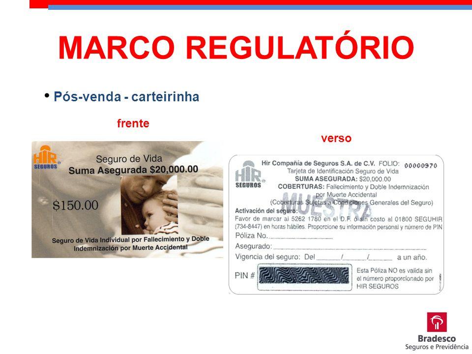 MARCO REGULATÓRIO Pós-venda - carteirinha frente verso