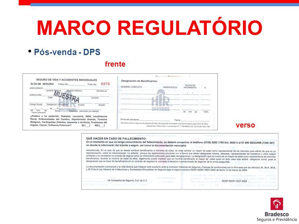 MARCO REGULATÓRIO Pós-venda - DPS frente verso