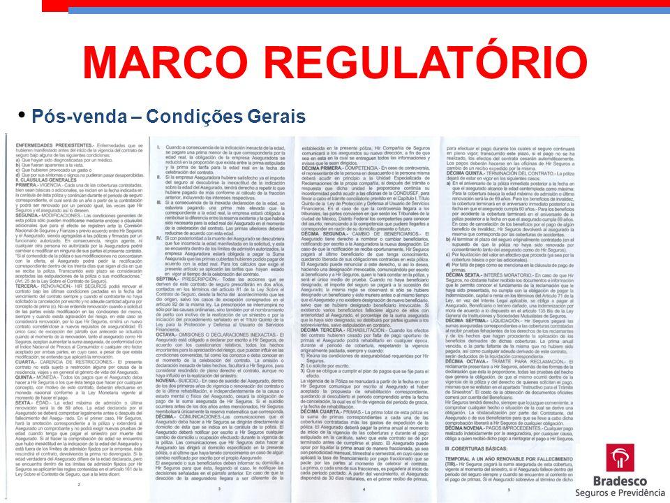 MARCO REGULATÓRIO Pós-venda – Condições Gerais