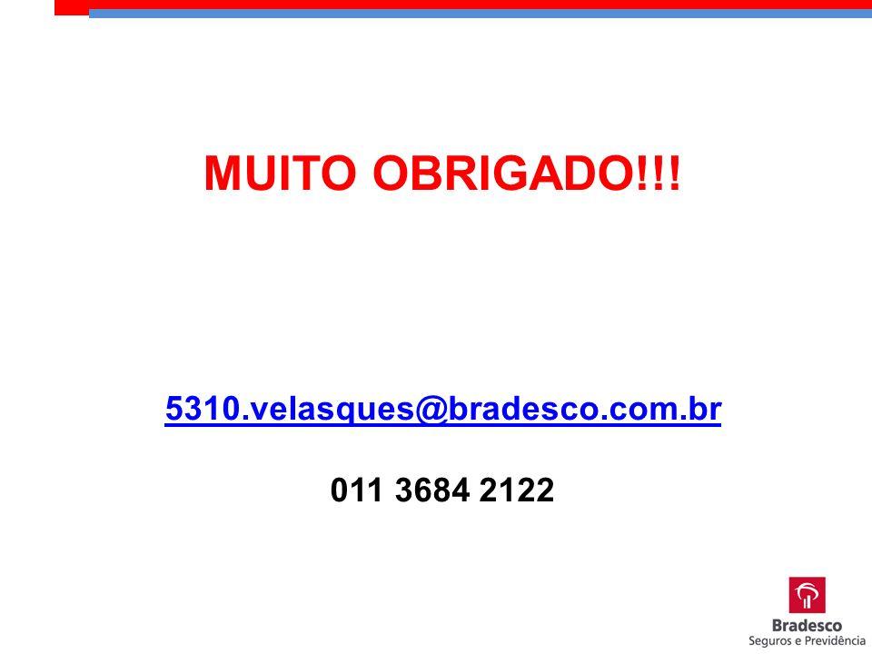 MUITO OBRIGADO!!! 5310.velasques@bradesco.com.br 011 3684 2122